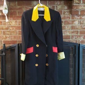 Bill Blass vintage 80s jacket blazer gold buttons
